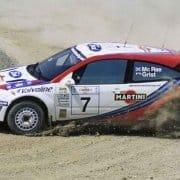 Colin McRae e Nicky Grist al Cataluya 1999 con la Ford Focus WRC