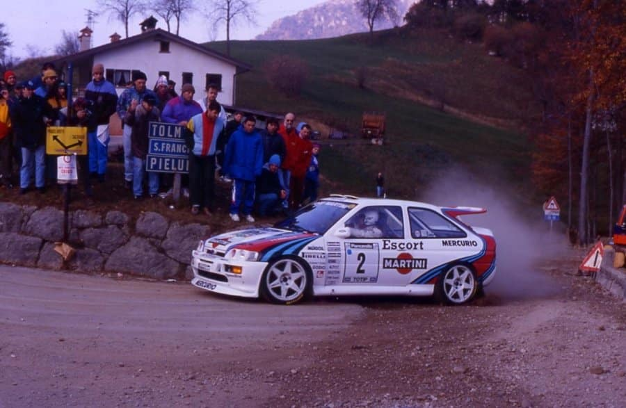Franco Cunico e la Ford Escort RS Martini Jolly Club