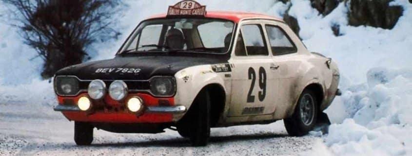 Francois Piot e Jean Todt con la Ford Escort Twin Cam