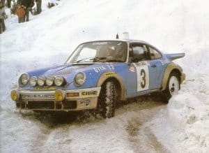 Jean-Pierre Nicolas con la Porsche 911 al Monte