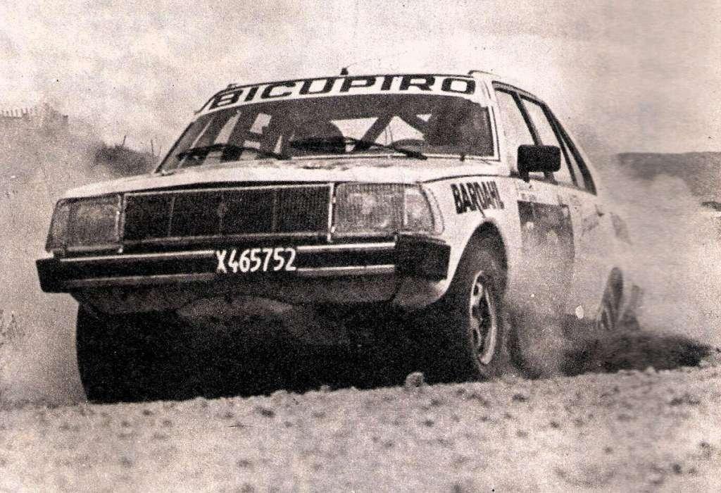 Jorge Recalde con la Renault 18 nel 1982