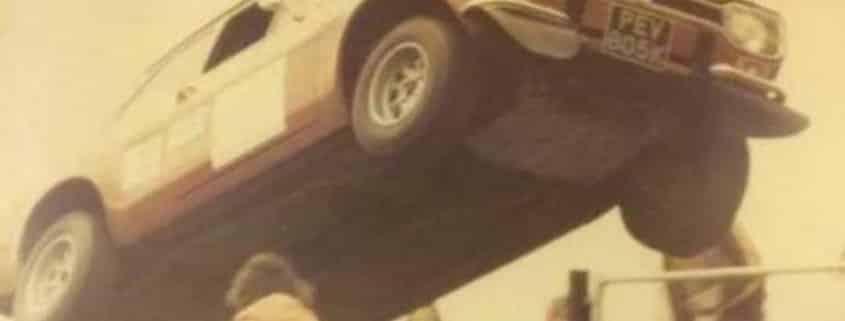 La Ford Escort MK1 impegnata in un rally nazionale in inghilterra