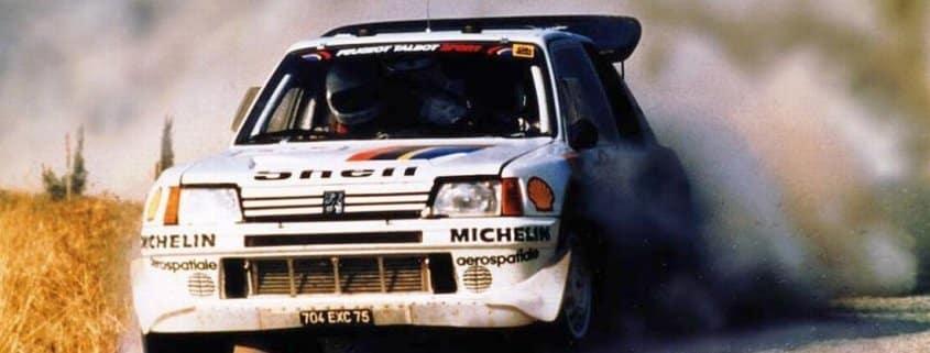 La Peugeot 205 T16 di Timo Salonen
