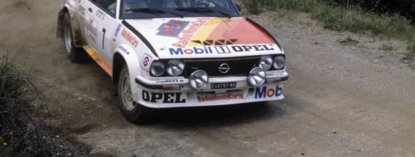 Lucky con la Opel Ascona 400 di Virgilio Conrero nel CIR 1979