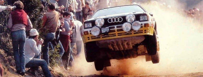 Michèle Mouton con l'Audi quattro S1 Gruppo B