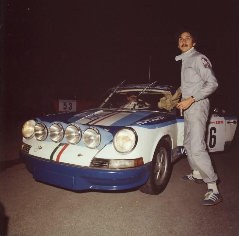 Michele Cane con la Porsche 911 rally