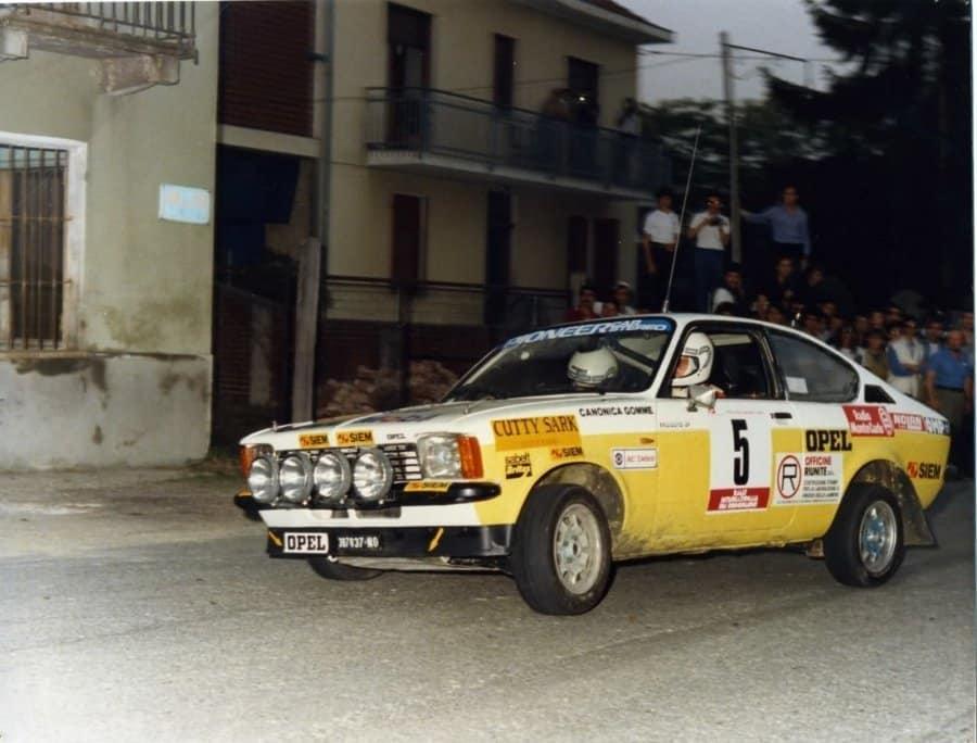 Michele Cane e Rolando maulini con la Opel Kadett GTE