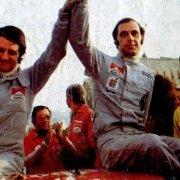 Sandro Munari e Mario Mannucci al Rally di Sanremo 1974