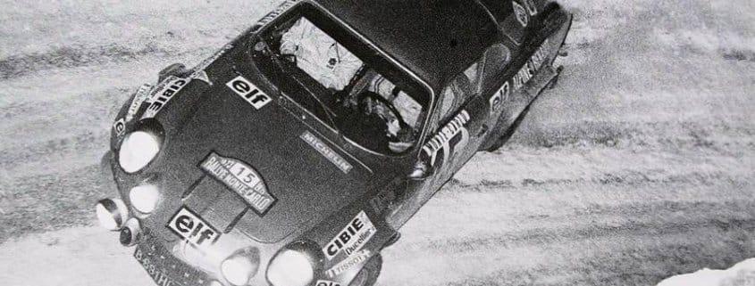Ove Andersson e Jean Todt al Rally MonteCarlo del 1973 con la Alpine Renault-A110 S