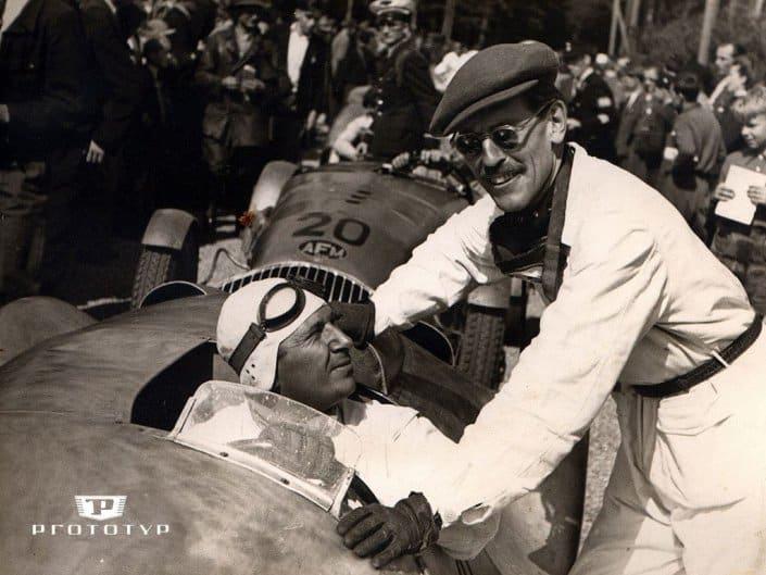 Petermax Muller al volante della sua prima vettura