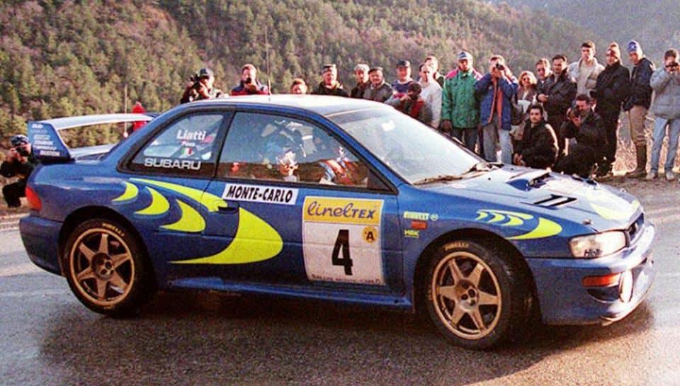 Piero Liatti e Fabrizia Pons al Rally di MonteCarlo 1997
