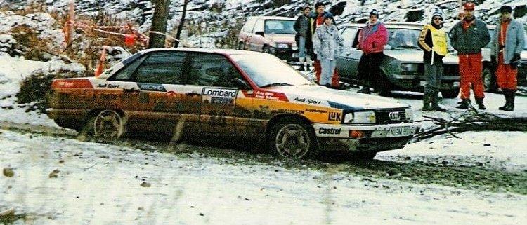 RAC 1988 la neve porta bene ad Armin Schwarz