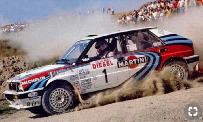 Brivido Lancia al Sanremo 1990: Biasion si ritira e Sainz è nei guai