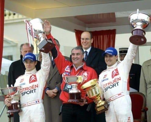 Sebastien Loeb e Daniel Elena al Rally MonteCarlo 2002