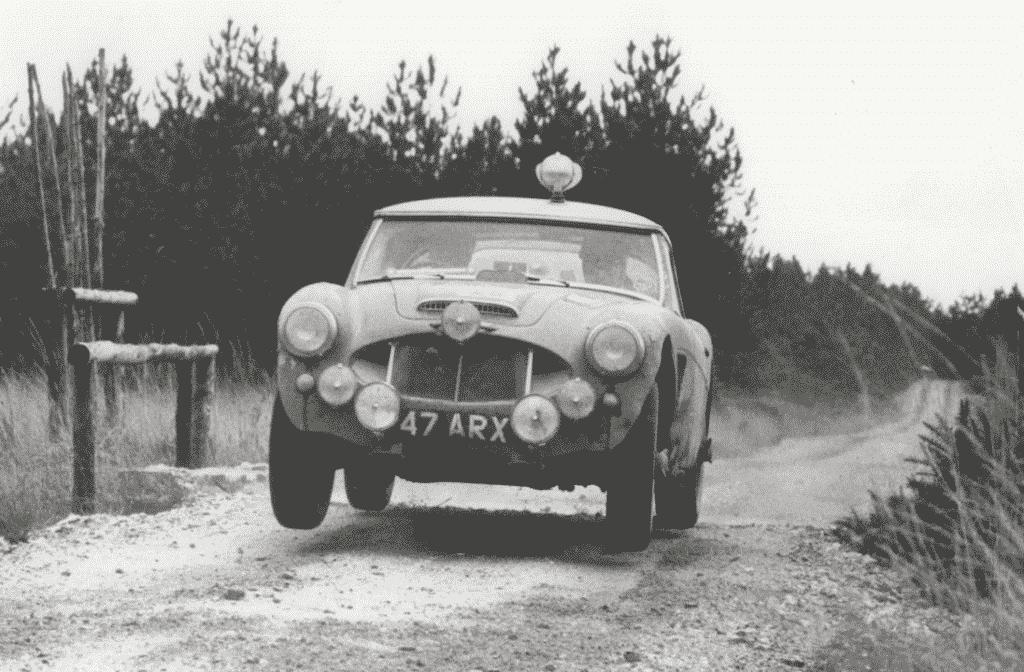 Timo Makinen al RAC 1960 con l'Austin Healey