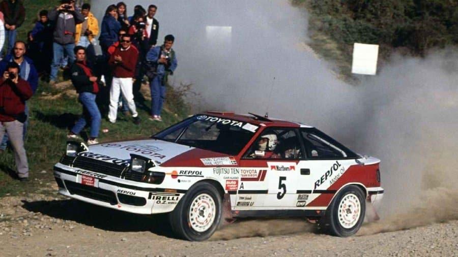 Armin Schwarz con la Toyota Celica impegnato nel WRC