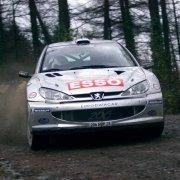 Marcus Gronholm con la Peugeot 206 WRC
