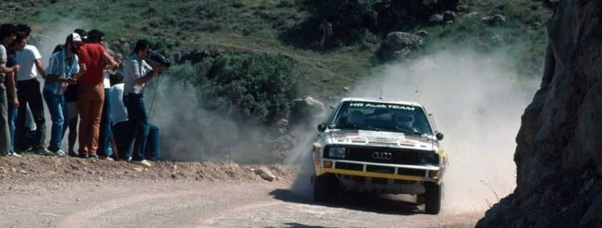 Walter Rohrl con l'Audi Sport Quattro al Rally Acropoli