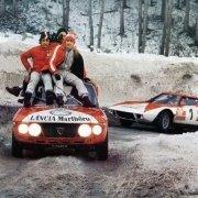 Amilcare Ballestrieri con la Fulvia al Rally di MonteCarlo