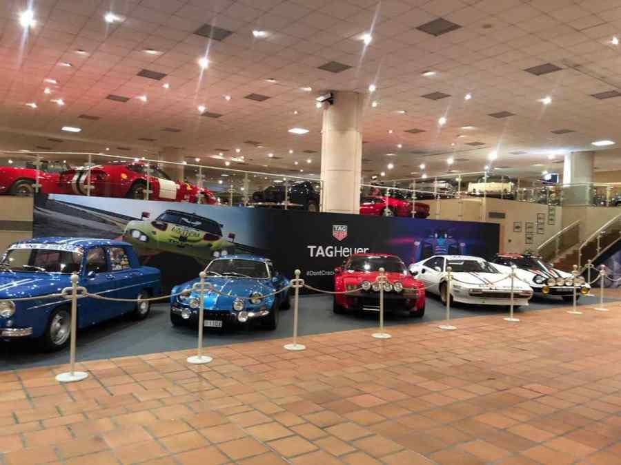 Le auto da rally esposte nel museo del Principe di Monaco