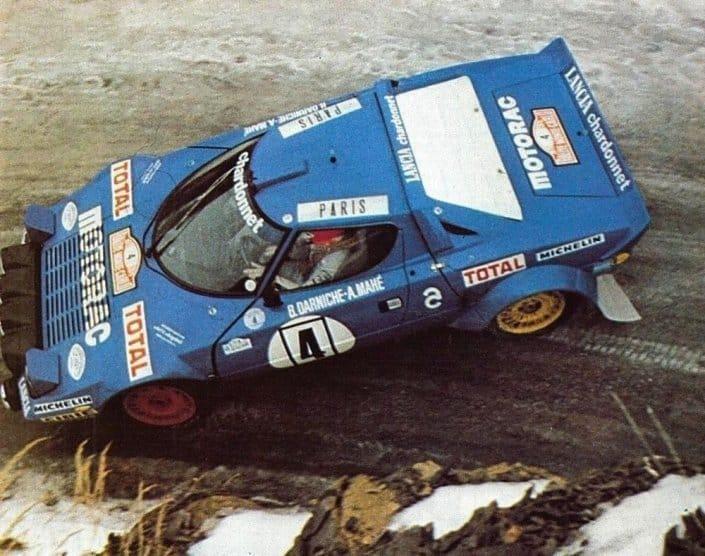 Bernard Darniche sulla Lancia Stratos HF al Rally di MonteCarlo 1979