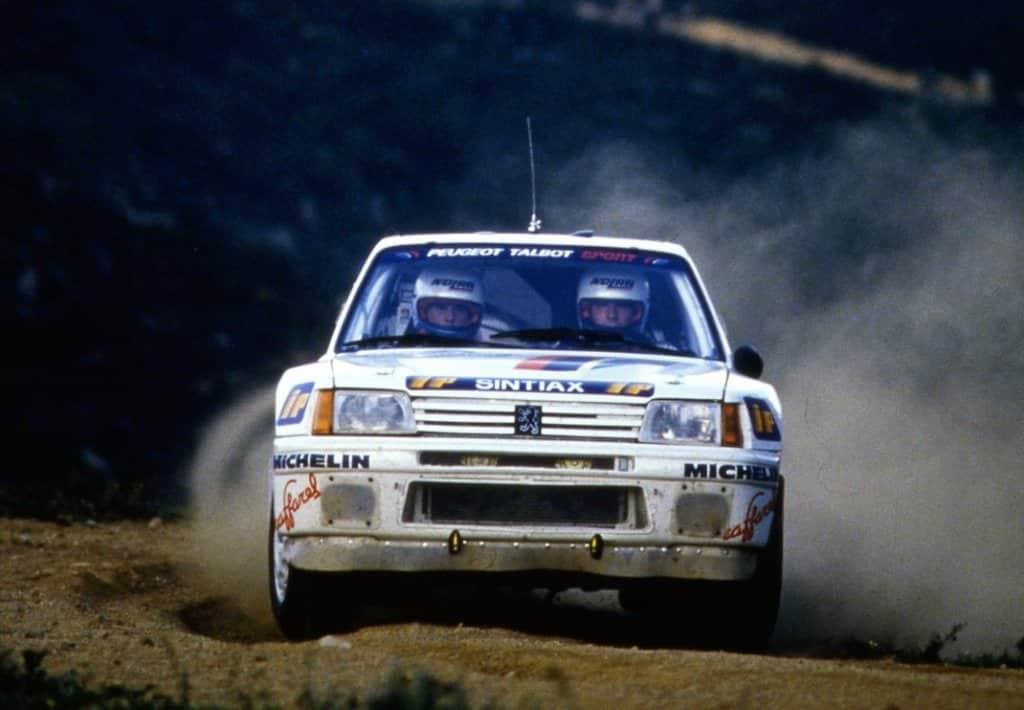 Andreza Zanussi e Popi Amati nel Cir 1986 con la Peugeot 205 T16