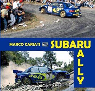 La copertina del volume dedicato alla storia Subaru nei rally