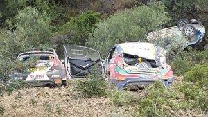 L'immagine dell'incidente al Rally di Cipro 2017