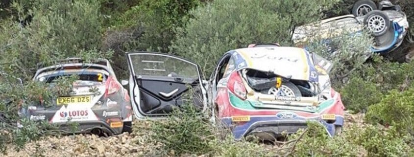 L'immagine dell'incidente al Rally di Cipro 2017