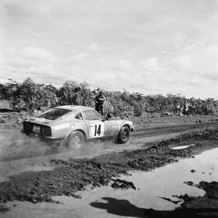 Harry Kallstrom al Safari Rally 1974