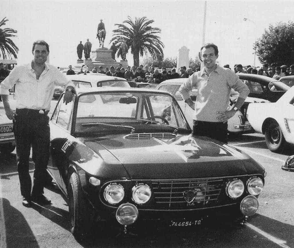 Leo Cella e Luciano Lombardini con la lancia Fulvia HF