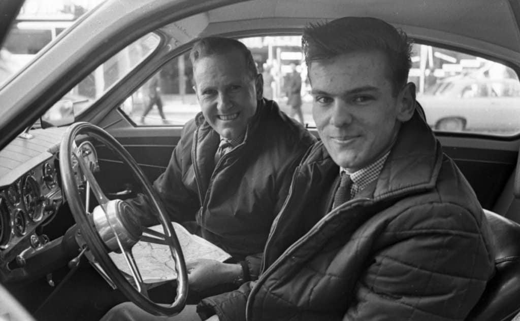 Una rarissima immagine di Stig Blomqvist giovane